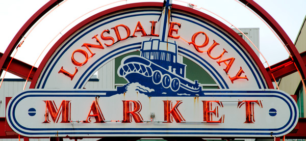 Lonsdale Quay Market Sign, North Vancouver