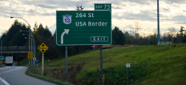US Border Crossing Sign