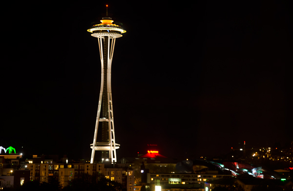 Happy 50th Anniversary Seattle Space Needle - from Pan Pacific Seattle