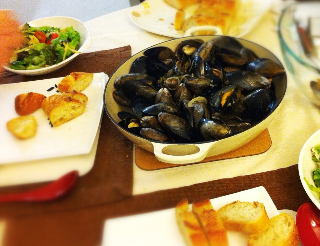 Winter Fresh Mussels from the Lobster Man in Granville Island