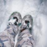Whistler - Snowshoeing in fresh snow.