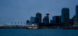 Vancouver Canada Place from Seawall