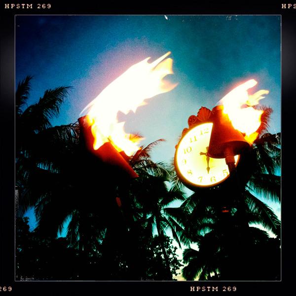 Happy Hour, Tiki Torches, Waikiki, Oahu, Honolulu, Hawaii