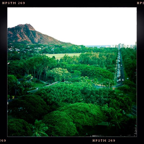 Diamond Head and Kapiolani Park, Waikiki, Oahu, Hawaii