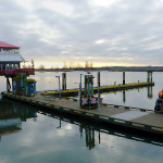 Panorama of Steveston Fish Dock, Richmond