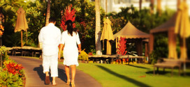 Newlyweds at Fairmont Kea Lani Maui, Hawaii
