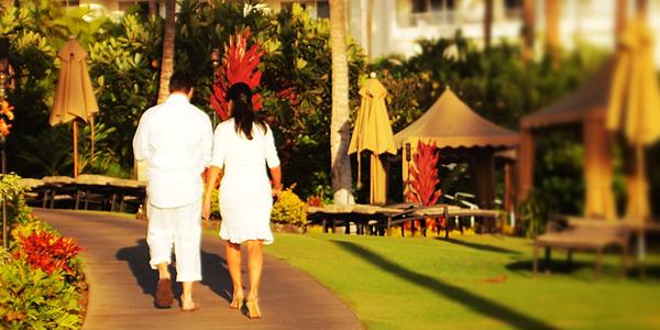Newlyweds at Fairmont Kea Lani Maui, Hawaii