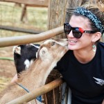 Our Host Ruby at Surfing Goat Dairy Maui