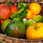 Fresh picked organic fruits at O'o Farm in Upcountry Maui