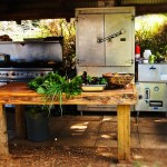 Outdoor kitchen at O'o Farm in Upcountry Maui