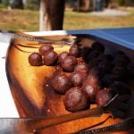 Chocolate Truffles with Maui Sea Salt for dessert O'o Farm in Upcountry Maui