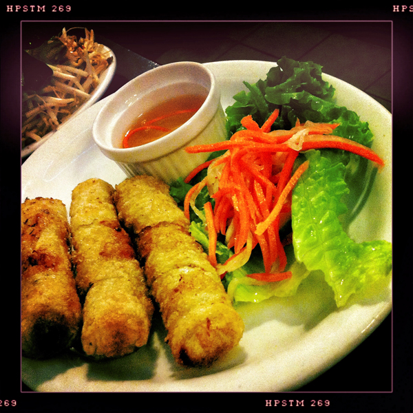 Spring Rolls , Chả giò, at Joyeaux Cafe and Restaurant Vietnamese Vancouver