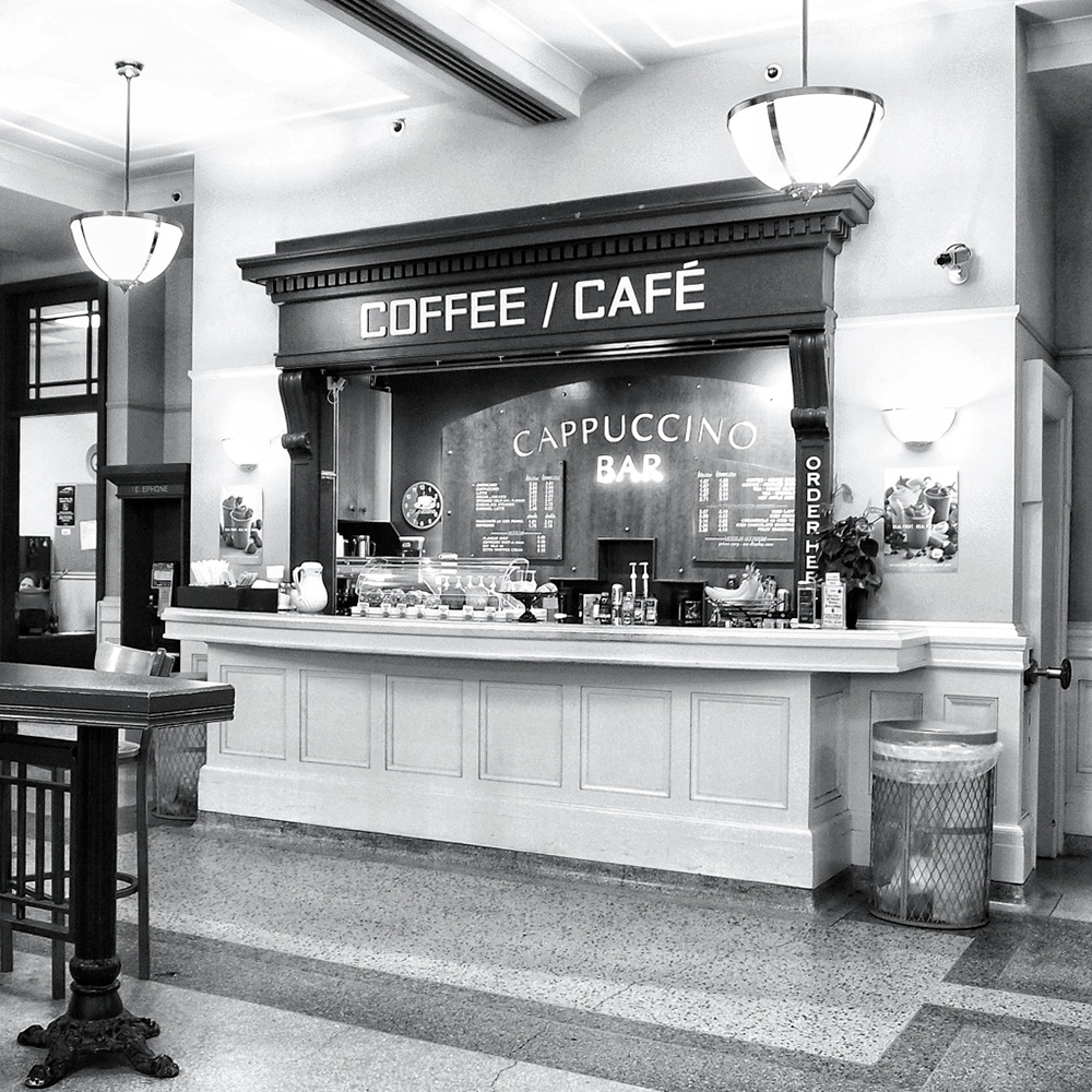 Cafe inside Vancouver Pacific Central Train Station