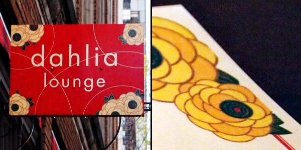 Seattle's Dahlia Lounge, signs