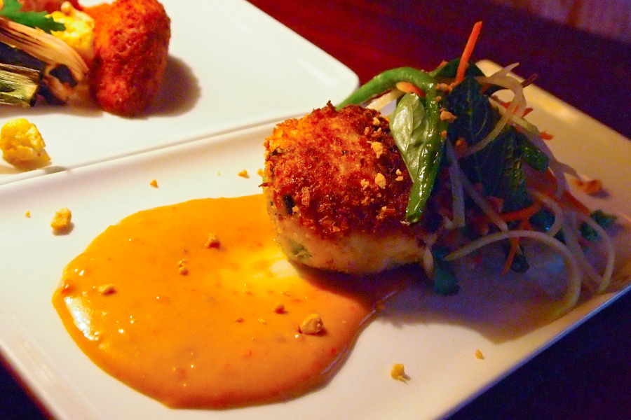 Crab Cake w/ Lemongrass sauce at Seattle's Dahlia Lounge