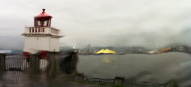 Rainy Day Seawall Vancouver