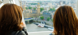 Claire and Friend on London Eye - Champagne Flight