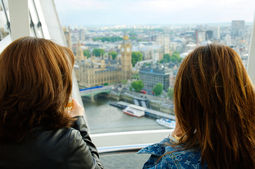 Claire and a Friend on The London Eye - Champagne Flight