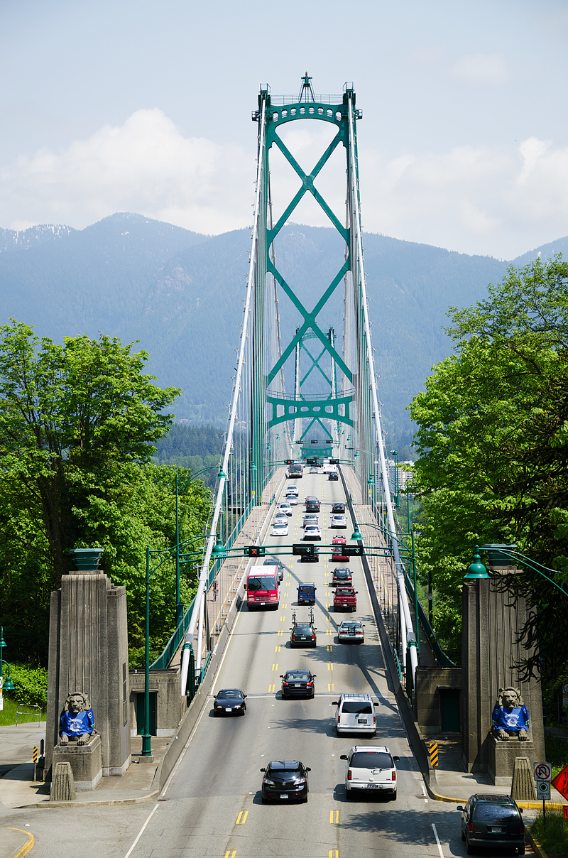 Lions Gate Bridge - from Stanley Park