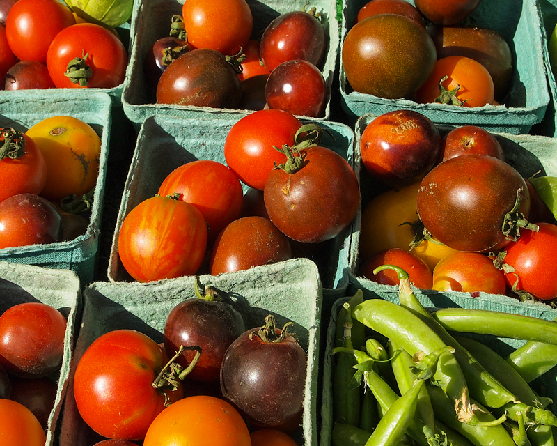 West End Farmers Market - Summer. Heirloom Cherry Tomatoes