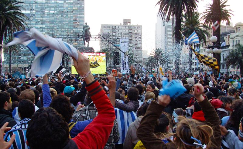 Montevideo Uruguay Football Fans