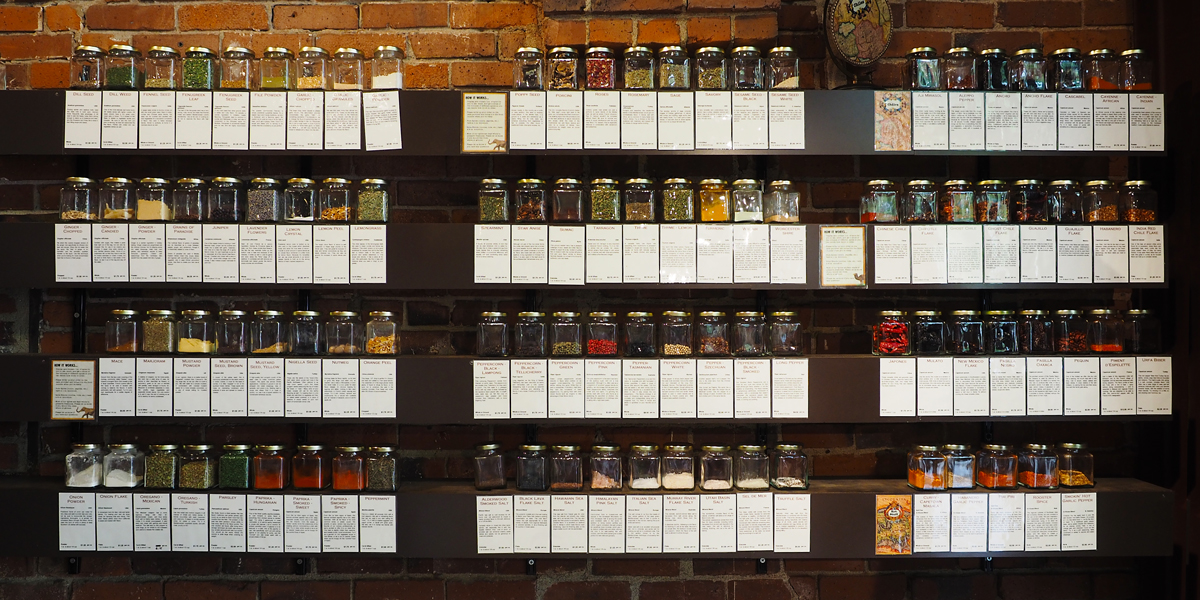 World Spice Merchants - Seattle. So many spices!