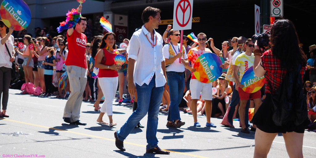 Justin Trudeau at the 2014 Vancouver Pride Parade