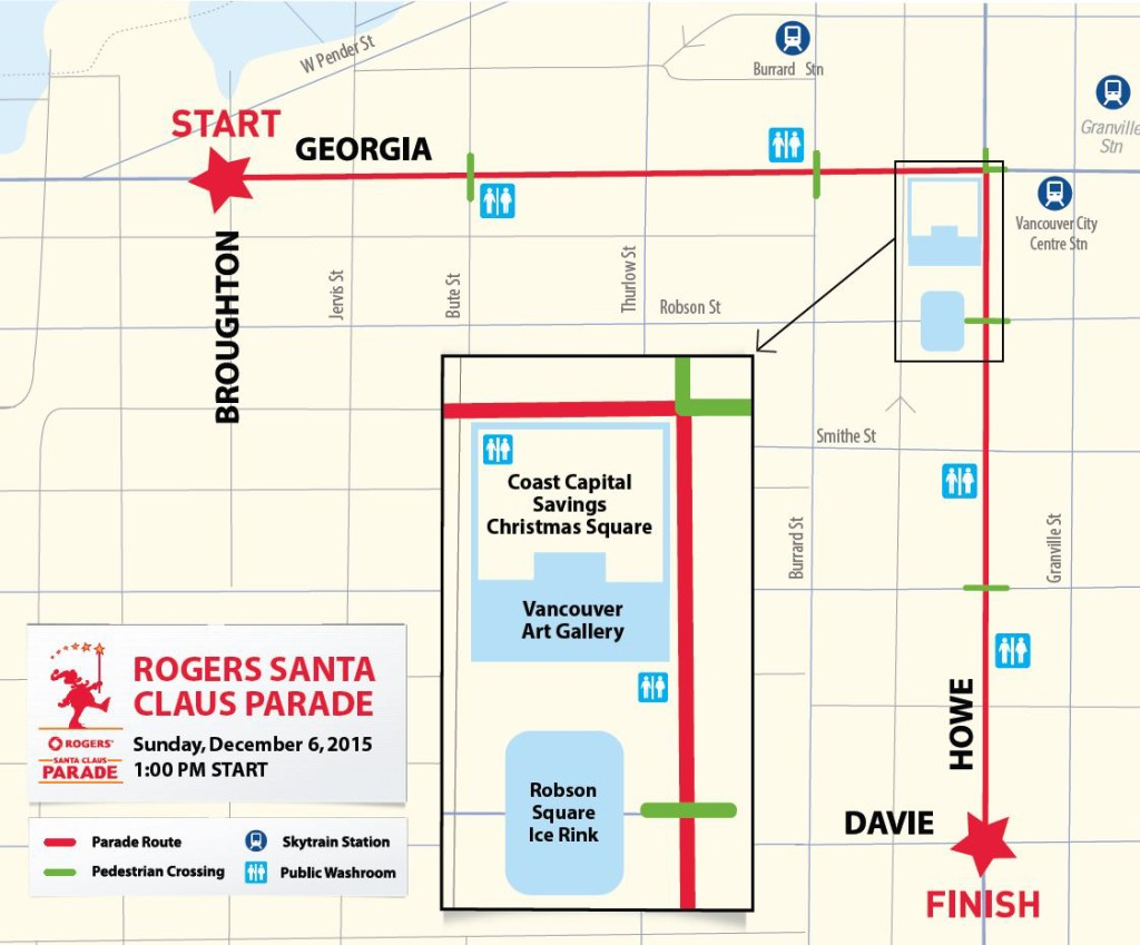 2015 Rogers Santa Claus Parade Route