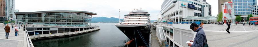 Canada Place Cruise Ship Terminal Vancouver, Panorama