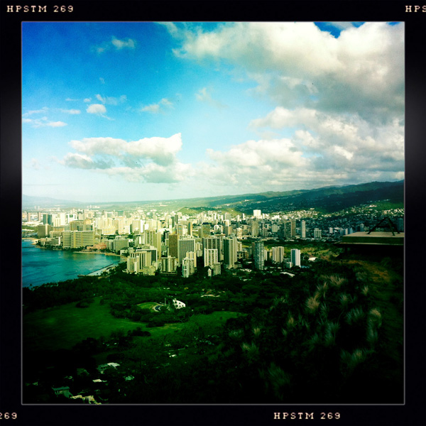 View of Waikiki from Diamond Head State Monument, Oahu, Hawaii