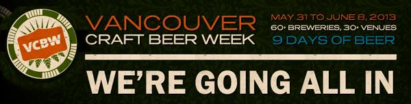 Vancouver Craft Beer Week 2013