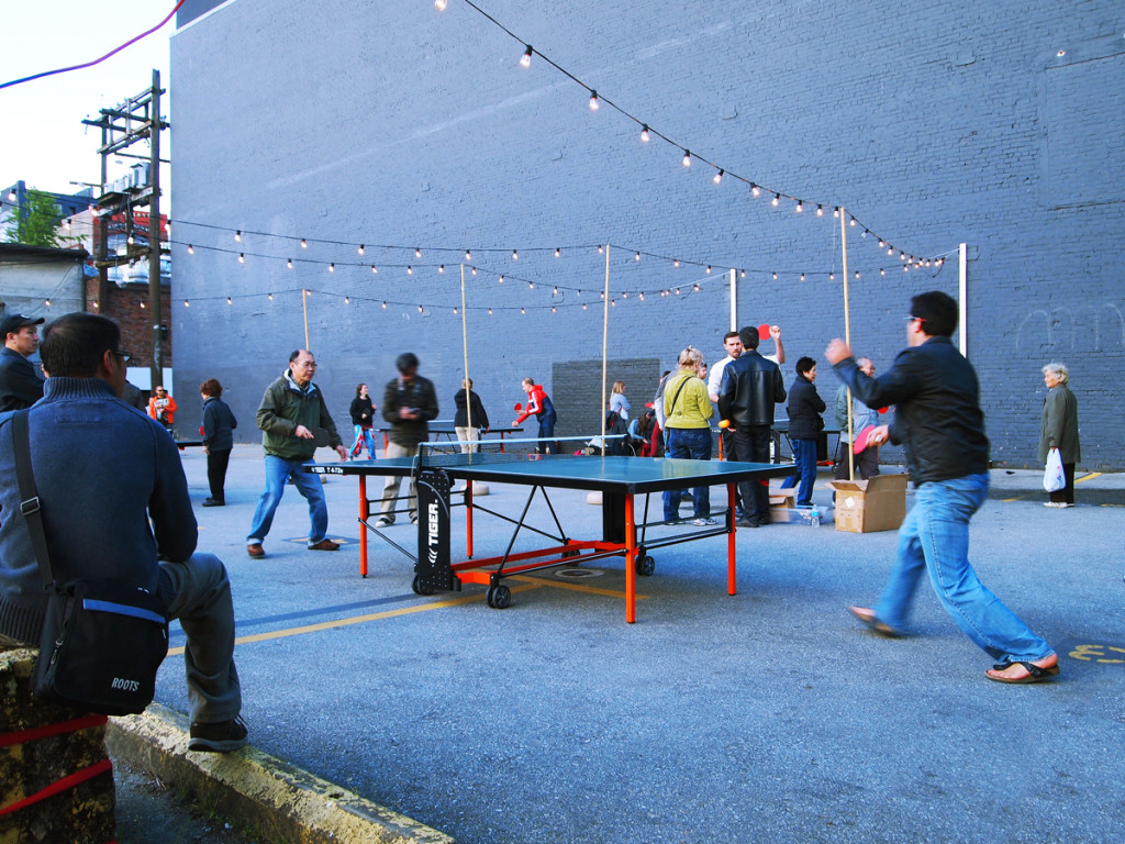 Ping Pong Tables at Vancouver Chinatown Night Market 2013