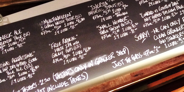 Brassneck Brewery - Opening Board