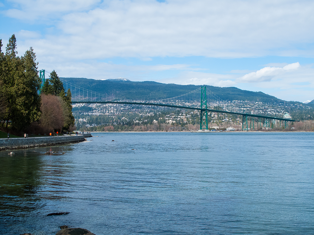 Lions Gate Bridge - from Stanley Park Sea Wall