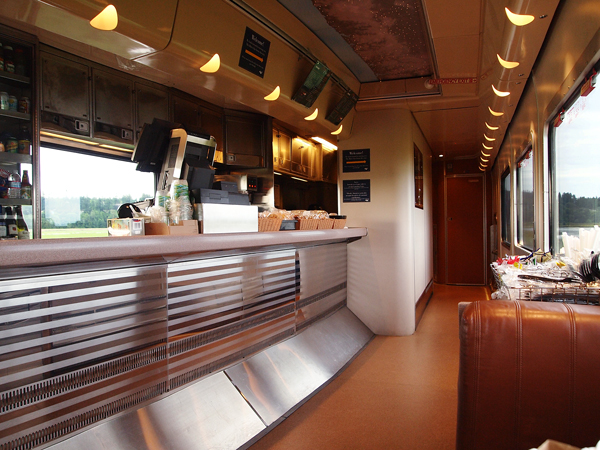 Bistro Car - Amtrak Cascades Rail from Vancouver to Seattle