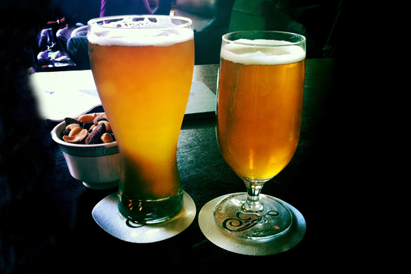 Fairmont Chateau Whistler - Mallard Lounge - Draft of Phillips Hop Circle IPA and Fairmont Friday Nibbles