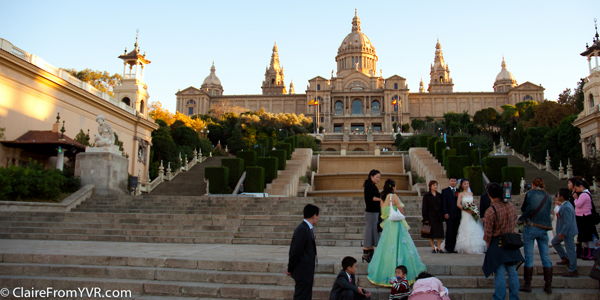 Wedding at the Magic Fountain of Montjuïc, Barcelona Spain