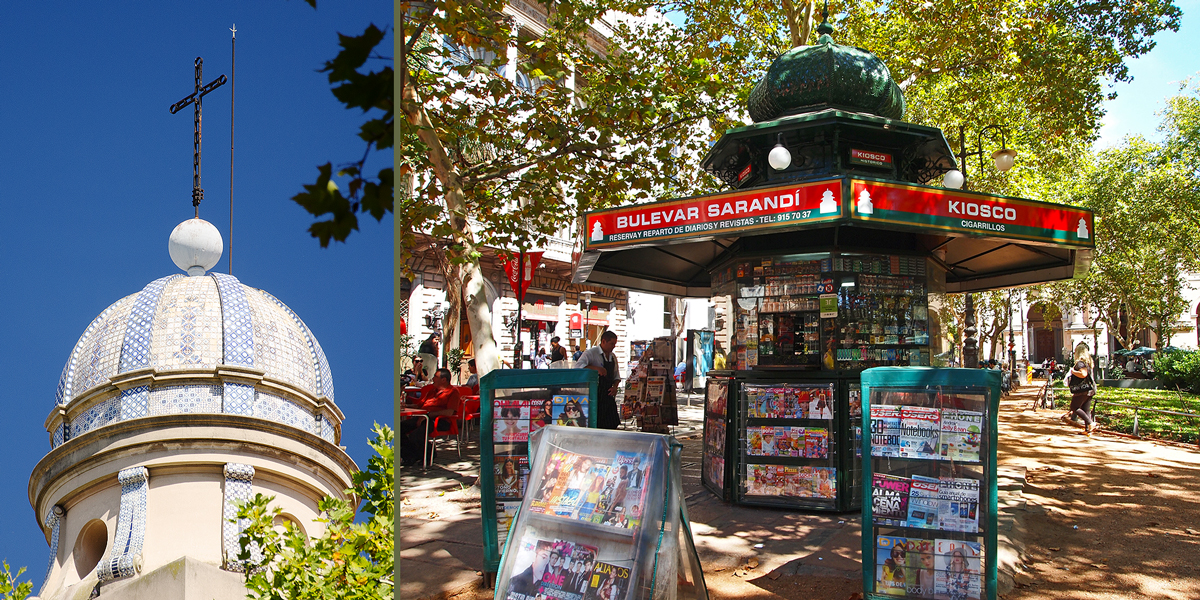 News Kiosks at Plaza Matriz, Ciudad Viejo Montevideo Uruguay