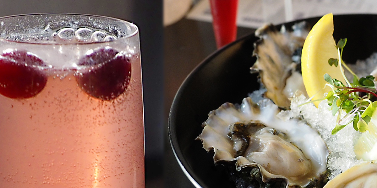 The Lusty Lady with raw Juan de Fuca Oysters.