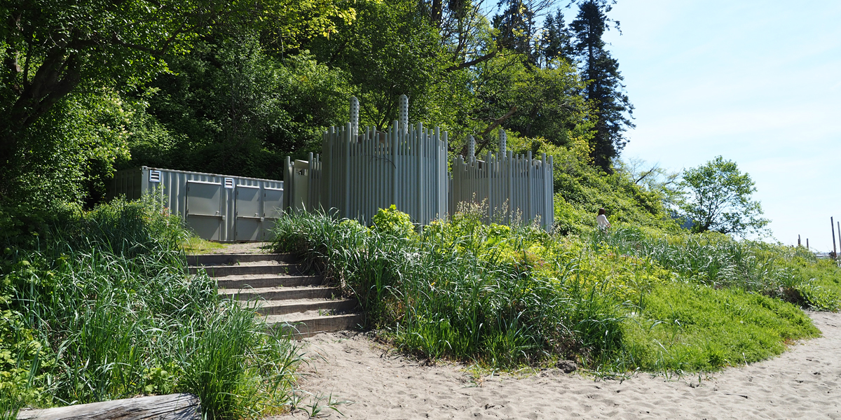 Public Bathrooms and Showers at Wreck Beach, Pacific Spirit Regional Park, Vancouver