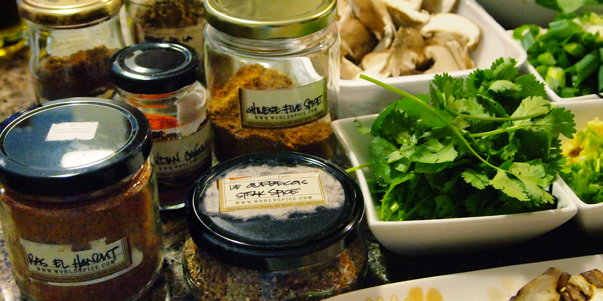Enjpying the spice magic at home. World Spice Merchants - Seattle