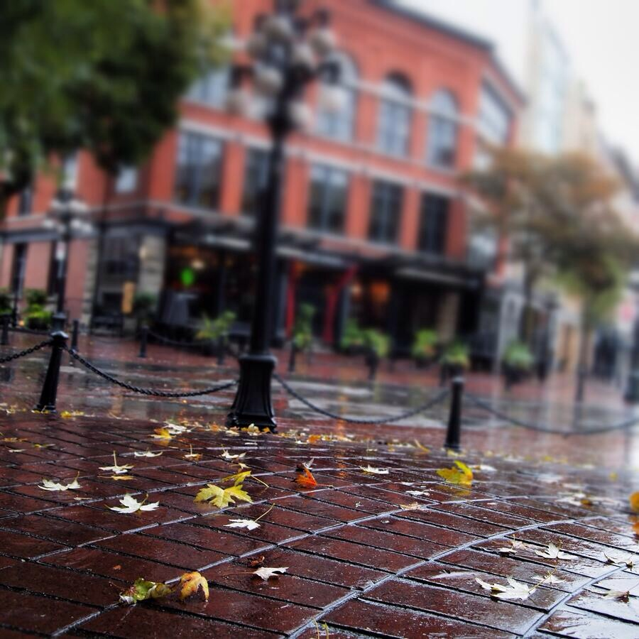 Gastown in the rain.