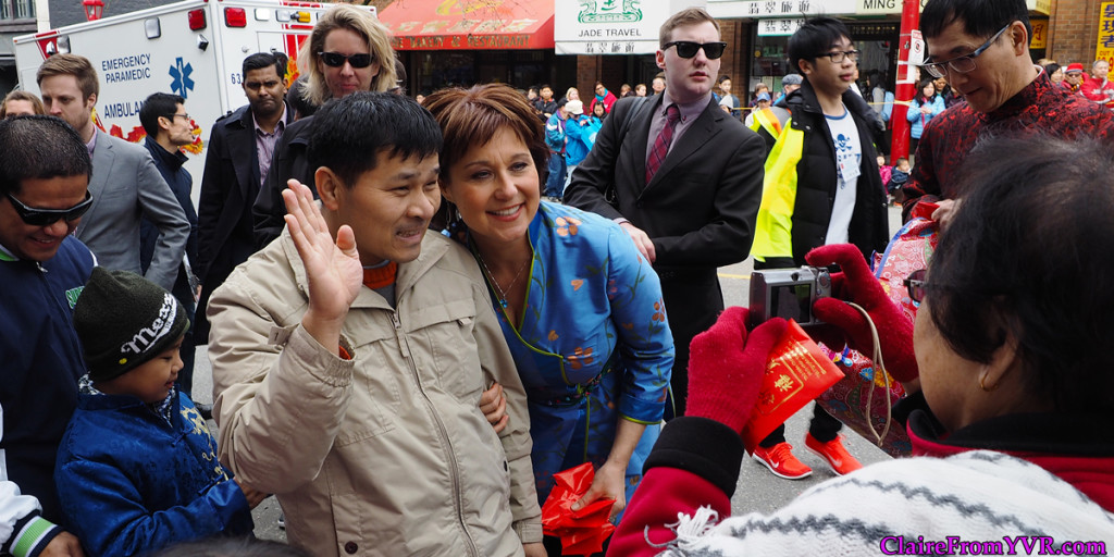 Chinese New Year's Parade is a great photobomb opportunity : BC Premier Christy Clark