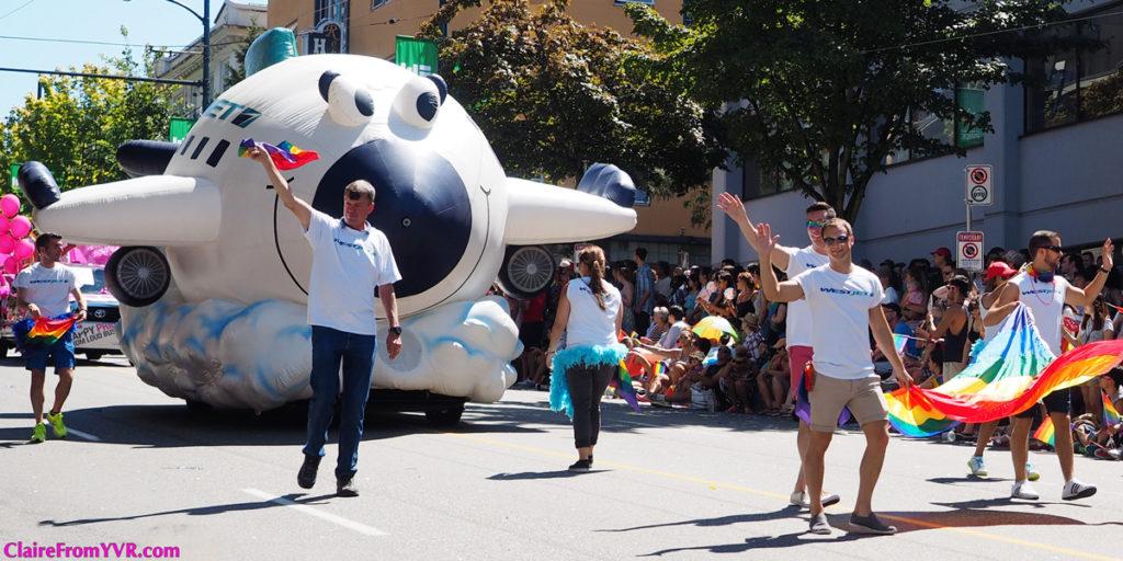 WestJet at Vancouver Pride Parade