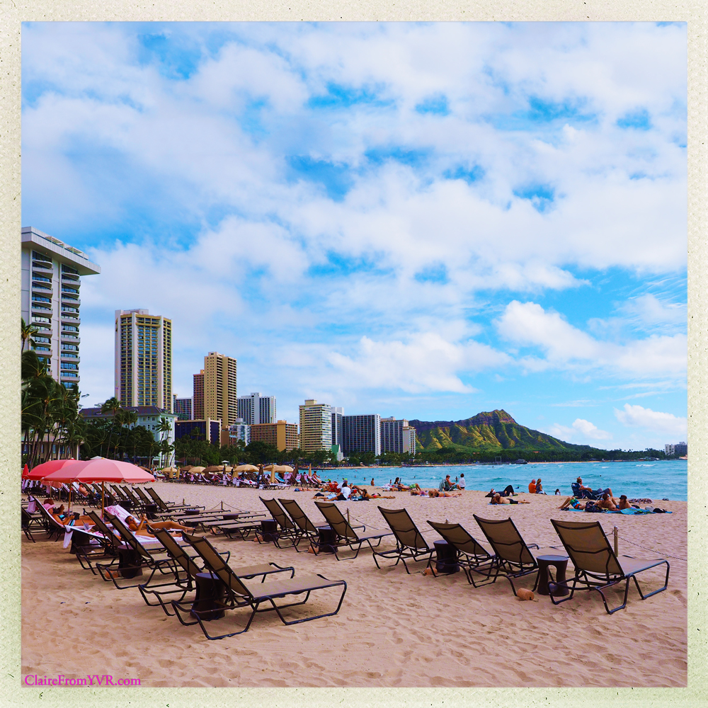 A most coveted spot on Waikiki Beach is at the Royal Hawaiian Hotel with panoramic views of Diamond Head, Waikiki Beach and the sparkling Pacific Ocean.